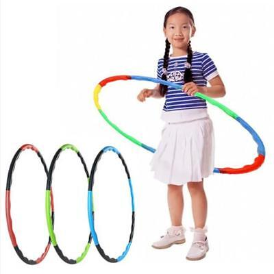 Kids Child 55cm Hula Hoop Colourful Slot Together Collapsible 8 Piece JA