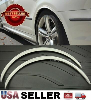 """2 x 29"""" Long Arch Wide Fender Flare Extension White Protector Lip For Nissan"""