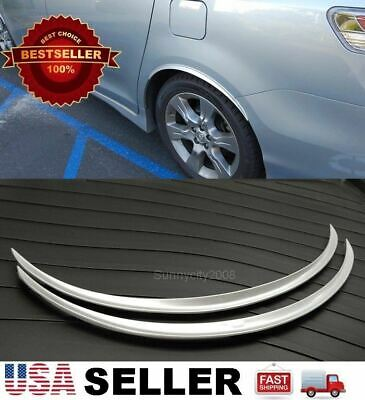 """2 x 29"""" Long Arch Wide Fender Flare Extension Silver Protector Lip For Nissan"""