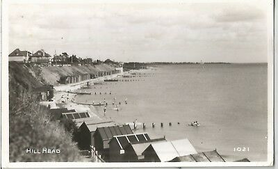 Hill Head Hampshire Fareham Lee On Solent   Old Photo Postcard Beach Huts