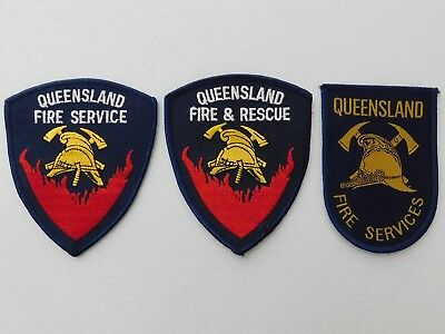 Queensland Fire Service / Rescue patches (3) (used) obsolete