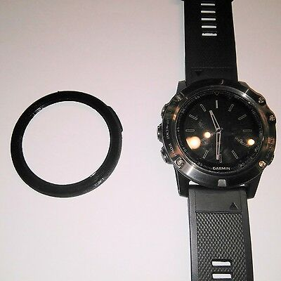 Protector bezel black + screen protector for 5x garmin fenix