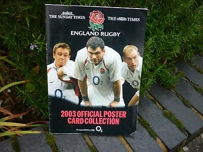 England Rugby 2003 Official Poster Card Collection