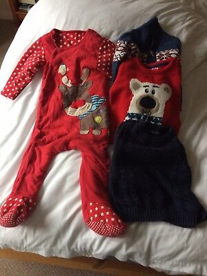 Baby Boy Winter & Christmas Clothing Bundle 12-18 Months. Next, Mothercare etc