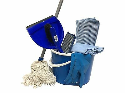 Blue Mop and Bucket Cleaning Kit