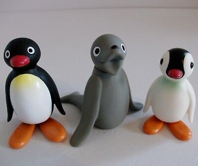Pingu Figures x 3  Golden Bear 1992