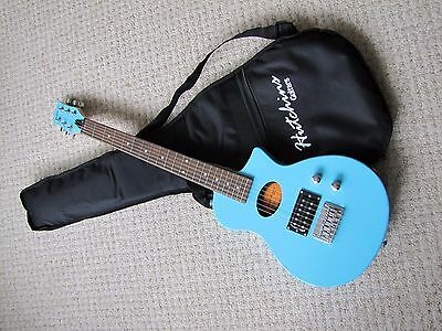 Special Offer !!!!   Electro Acoustic Full Scale Blue Travel Guitar With Bag ..