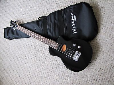 Hutchins Electro Acoustic Full Scale Black Travel Guitar With Bag