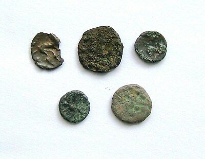 Small Group of Celtic Bronze + 1 Silver Coins – Low Grade