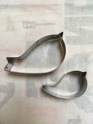 Set Of Two Bird Cookie Cutters For Cookie Or Fondant