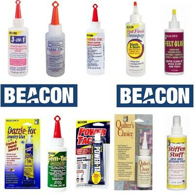 Beacon Glue Adhesive Gem Felt Decoupage Fabric Fabri-tac 3 in 1 Quilters Choice