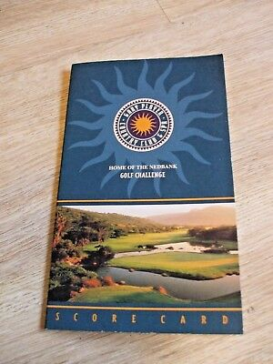 Gary Player Country Club  Spa Score Card Un-Used- Home Of Nedbank Golf Challenge