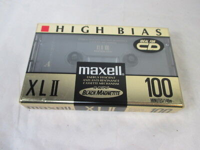 Maxell XLII High Bias Blank Audio Cassette Type 2 100 minutes made in Japan