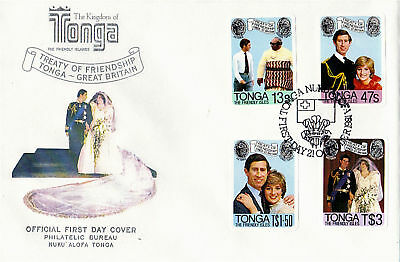 Tonga 21 October 1981 Royal Wedding First Day Cover