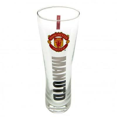Manchester United Tall Beer Glass Peroni Design Official Licensed Football Club