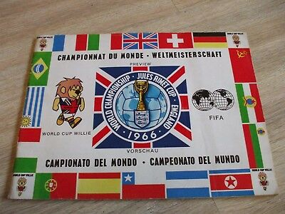 World Championship Jules Rimet Cup 1966 Preview Programme World Cup Football