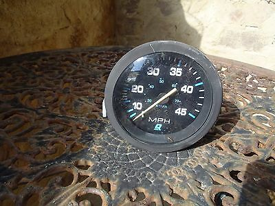 Mercury 45 MPH Boat Speedometer. Guage Inboard Outboard Good Condition