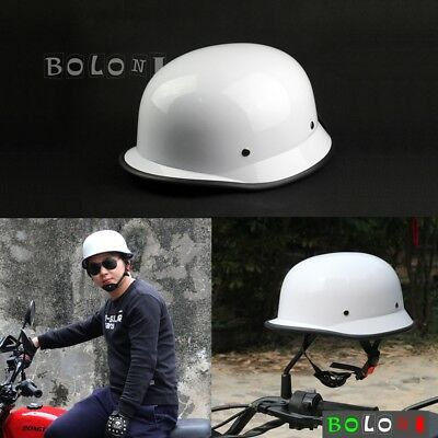 Universal Cool Open Face Classic German Style Safety Hard Hat Helmet Gloss White