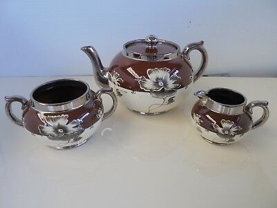 ANTIQUE c1909 G&S LTD ALBANY & HARVEY POTTERIES MADE IN ENGLAND SILVOE ART WARE
