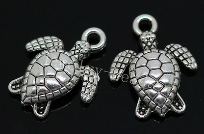 New 20pcs Antique Silver Lovely tortoise Jewelry Charms Pendant 16x12mm