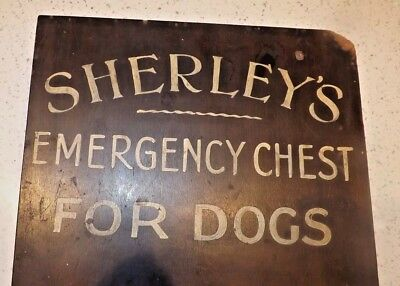 Veterinary Wooden Emergency Chest For Dogs - Sherleys - Very Old