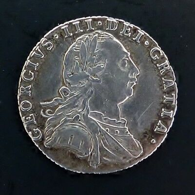 George Iii Silver Sixpence 1787 No Hearts Fine Condition.