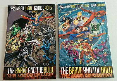 The Brave and the Bold Waid Perez Volume 1 2 Lords Luck Book Destiny TPB