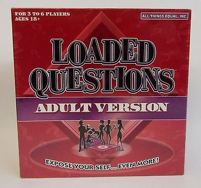 * Loaded Questions * Board Game * Adult Version * NOS * Factory Sealed *