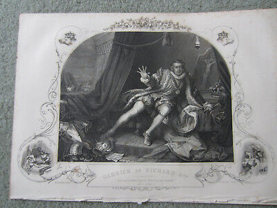 1857 engraving David Garrick in Shakespeare.breakthrough role as Richard III
