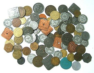 Large Accumulation of 19th/20th Century Tokens, Tickets & Checks