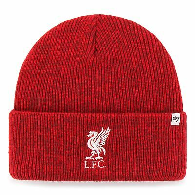 Liverpool FC LFC Mens Red '47 Brain Freeze Cuff Beanie Official