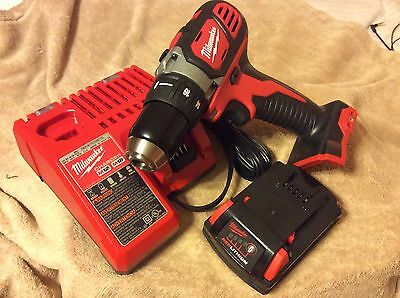 "Milwaukee 1/2"" Drill Driver, Charger and Battery Combo"