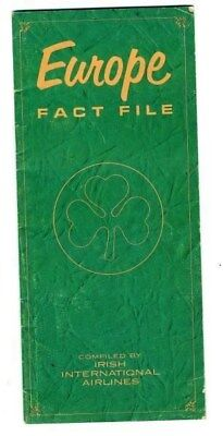 Europe Fact File Booklet  Irish International Airlines 1960's