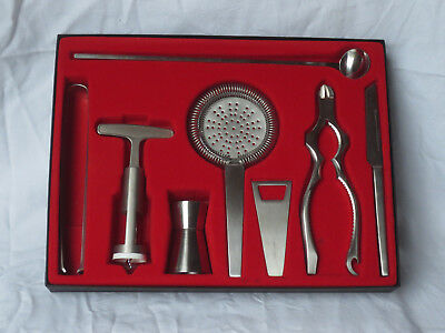 Altes Dreizack Bar Set 8-teilig_Solingen Germany_wie neu_Stainless/Rostfrei
