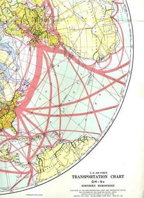 US Air Force Northern Hemisphere Transportation Chart 1958 Map GH-9A