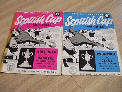 2 x SCOTTISH CUP SEMI FINAL PROGRAMMES 1958