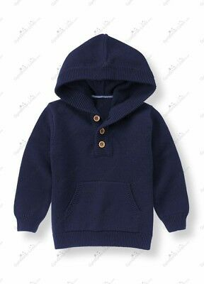 Janie & Jack Rowing Club Navy Hooded Sweater, size 4T