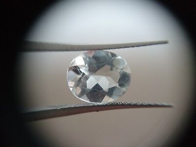 5ct Loose Oval cut White Topaz. Natural Untreated Gemstone