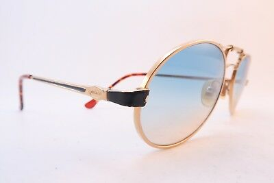 Vintage Bugatti sunglasses brow detail tinted gradient lens made in Italy