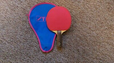 Vintage Erik Lindh Stiga Dash Made In Sweden Paddle with Case...MUST SEE