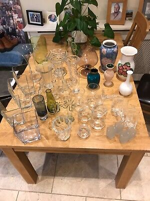 Vases - selection of glass and ceramic vases