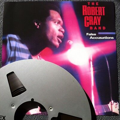 """Reel to Reel Tape 15ips 2 Track Safety Copy Alu Reel """"False Accusations"""" R. Cray"""
