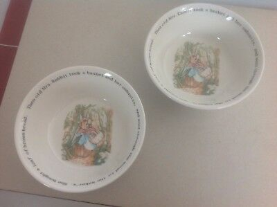 Peter Rabbit Wedgwood china bowls