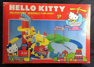 Vintage Hello Kitty Heliport Set In Box 1977 Tomy