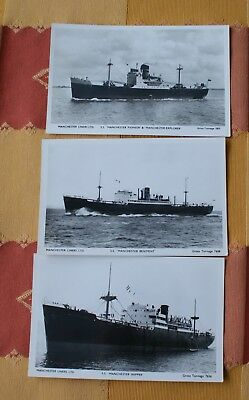 3 X Manchester liners postcards