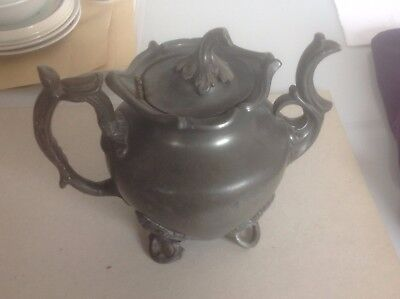 Victorian pewter teapot by James Dixon