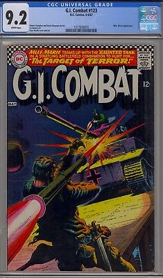 G.I. Combat #123 (Apr-May 1967, DC), CGC 9.2, White pages