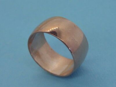 Vintage pink rose gold filled ANTIQUE RETRO ART DECO WIDE WEDDING BAND ring