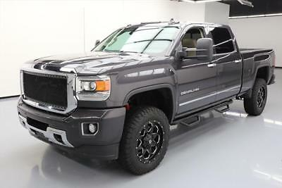 2015 GMC Sierra 2500 Denali Crew Cab Pickup 4-Door 2015 GMC SIERRA 2500 DENALI CREW 4X4 DIESEL LIFTED 36K #607946 Texas Direct Auto