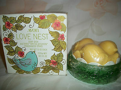 Avon Love Nest With Bird Fragranced Soaps And Dish